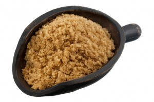 scoop of brown cane sugar