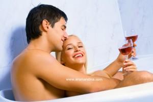 Sensual aromatherapy bath